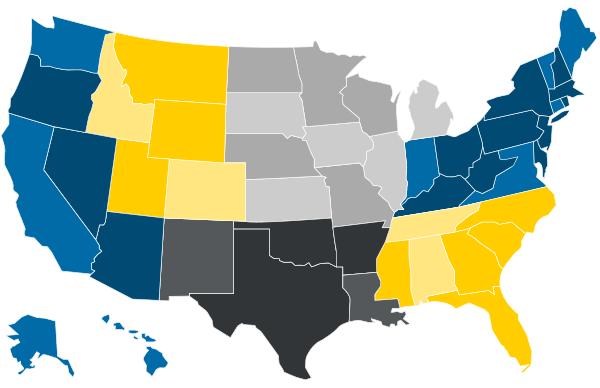 CAT-U Regional Map of USA