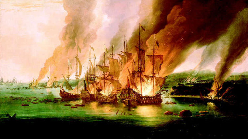 Burning Ships on the Ocean